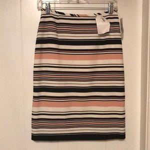 Tahari a-line skirt, pink/black/ivory brand new